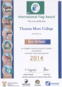 International Flag Award - 5 Years of Thomas More College being an Eco-School