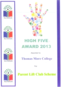 High Five Award for our environmentally friendly liftclub scheme